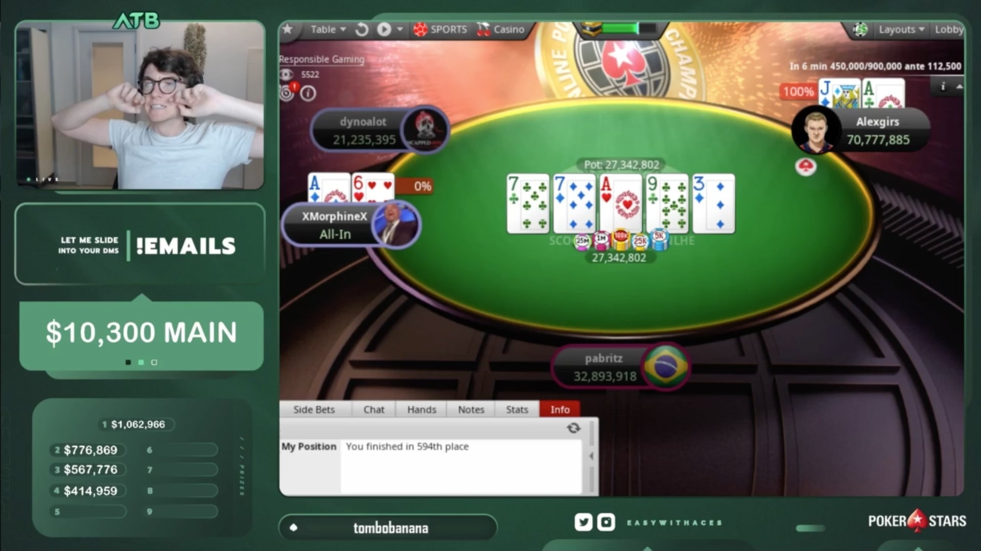 Белорус Александр «alexgirs» Гирс выиграл SCOOP ME на PokerStars и получил $920,595 7