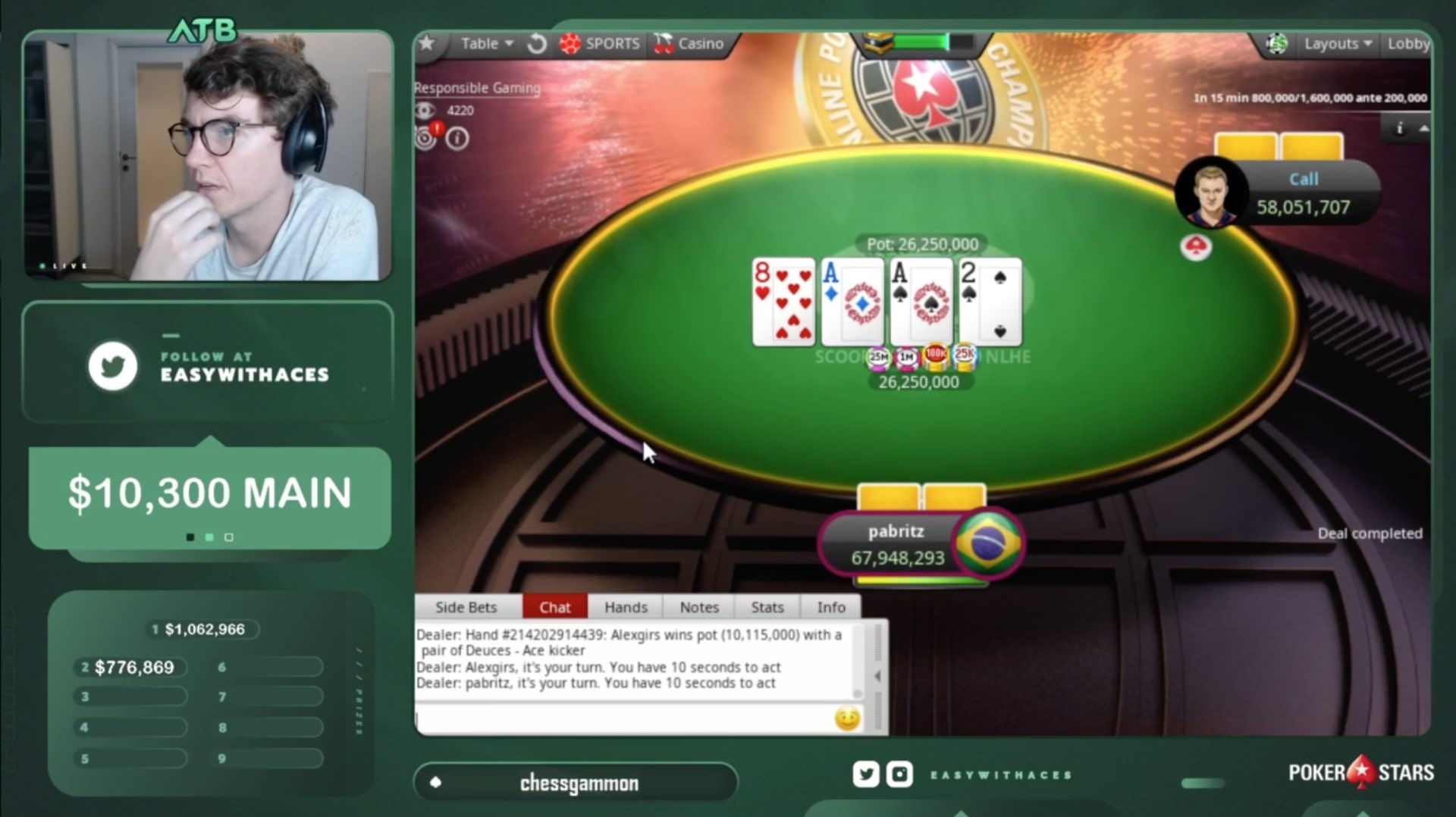 Белорус Александр «alexgirs» Гирс выиграл SCOOP ME на PokerStars и получил $920,595 10